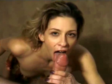 Wife works cock and enjoys the fruits of her labor