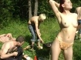 College teens camping and sex in the forest