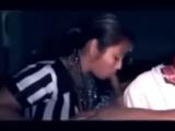 Dude Tapes A Latina Girl Sucking His Buddy