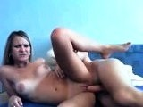 Russian amateur couple fuck on webcam