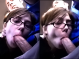 Naughty girlfriend sucks dick while her boyfriend drive a car
