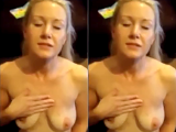 Blonde wife gets a cum facial