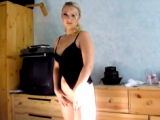 Cute amateur blonde sucks my boner