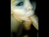 Blonde amateur wife gets a mouth full