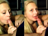 Great blowjob POV of blonde at home