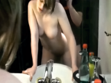 Amateur couple fucking in hotelroom bathroom