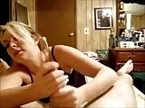 Dreamy blonde gf lilly gives hot two hand handjob