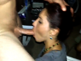 Girlfriend giving extreme hot blowjob to his friend