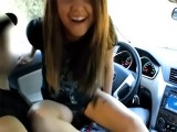18yo college girl fucks in car