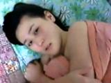 Korean Girl Giving Her BF Head