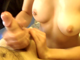 Beautiful amateur perky boobs titty fuck
