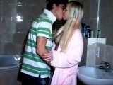 Real Amateur Girlfriend Fucked In Her Parents Bathroom!
