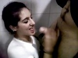 She loses a bet and must sucks classmate in toilet