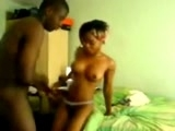 Black Teen Couple Fucks And Moans Loud