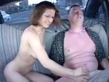 Drunk Amateur Couple Fucking in Taxi Car!