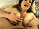 Big breasted MILF gets tit fucked