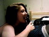 Amateur White Teen blowing black boyfriend