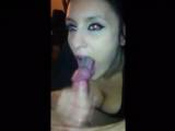 Brunette Girl Shows Off Her Blowjob Skills