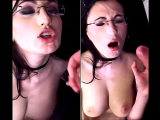 Hot bitch takes a cumload to the face