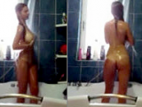 You can't miss this perfect babe under shower!
