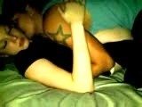 Young couple makes sextape