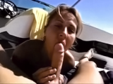 My wife deepthroating my dick on the boat