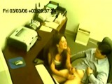 Boss handjob caught on spy cam