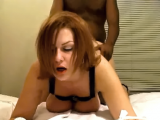 Sub white wife being doggystyled by her black bull as her husband films