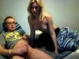 Oral sex on webcam