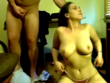 Busty amateur babe oral sex