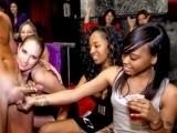 Cheating women blow Dancing Bear male strippers