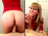 Nerdy Teen Makes The Cock Explode