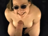 Amateur girl sucks cock for a messy facial cumshot
