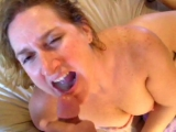 She swallows a mouthfull