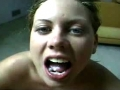 Erin's audition swallowing cum