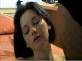This amateur cutie is so hot for cum on her face