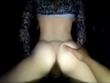 White Girl Rides Her Black BF Reverse Cowgirl And Gets A Creampie