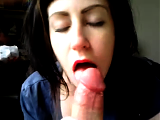 Close-up pov blowjob by amateur dick-sucking girlfriend
