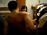 Young asian college couple