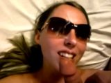 POV Blowjob & Cumshot on Sunglasses
