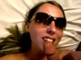 POV Blowjob & Cumshot on Sunglasses