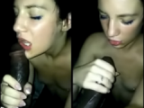 Hot slut gets a great BBC facial