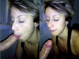 Exposed Italian wife blowing a friend