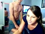 Amateur webcam couple showing love