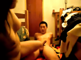 Asian couple sweet home video!