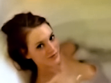 Jenny bathing and makes me a blowjob