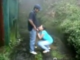 Latina Teen Has A Quickie With Her BF In The Rain