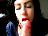 Closeup POV Blowjob From Sexy Amateur Girlfriend
