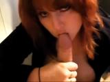 Aussie Redhead Big Tits BJ