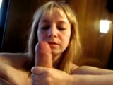 Blonde wife Rimjob & BJ POV